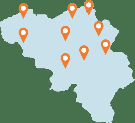 Plus de 20 agences en Belgique
