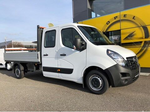 Opel Movano Dubbel cabine open laadbak 2 + 4 zit, met navigatie!