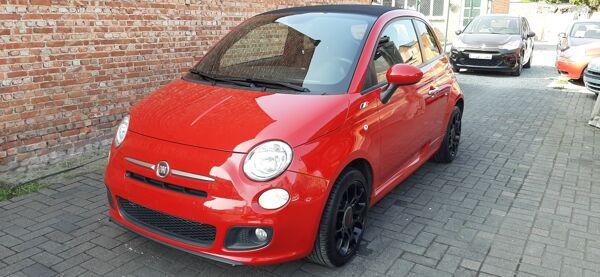 Fiat 500 C 1.2i Sport*airco*alu velgen*PDC*Leder en alcantara**TOPPER!!!