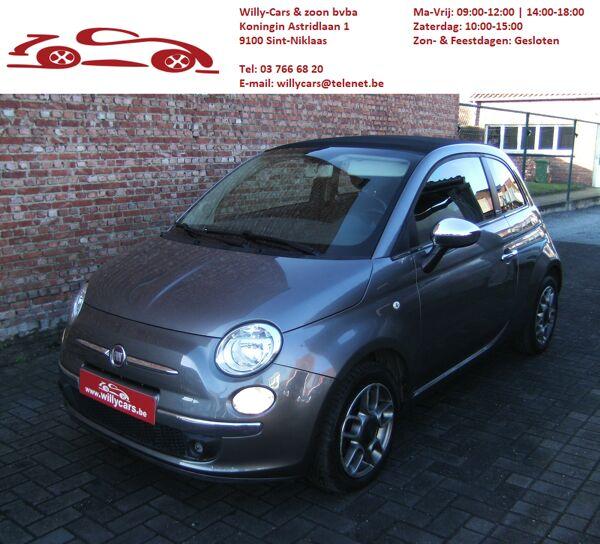 Fiat 500 C 1.2i/69pk/grijs/cabrio/aluvelgen/grijs/EURO6