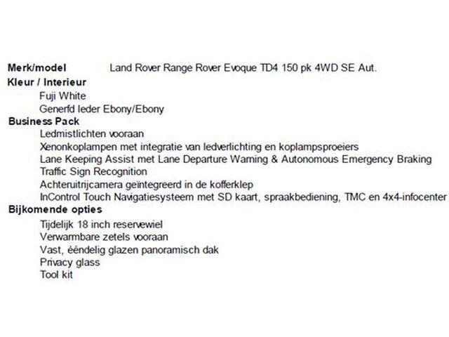 Land Rover Range Rover Evoque 2.0 D SE 7/7