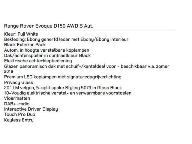 Land Rover Range Rover Evoque 2.0D AWD S Aut. [2020] 8/10