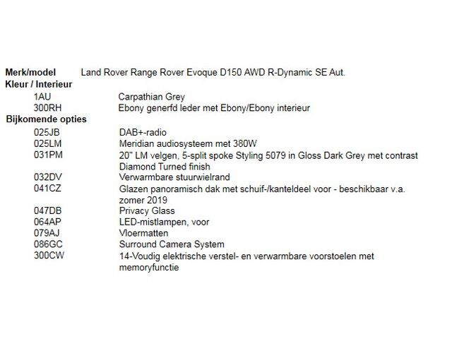 Land Rover Range Rover Evoque D150 AWD R-Dynamic SE Aut. 4/5