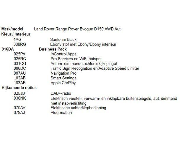 Land Rover Range Rover Evoque D150 AWD Aut. 9/10