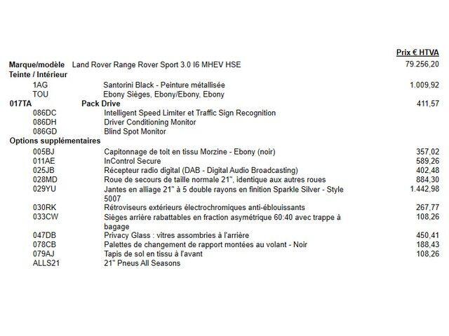Land Rover Range Rover Sport HSE P400 5/6