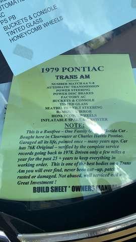 Pontiac Trans Am TRANS AM 6.6 V8 10 TH ANNISERSARY 3/15