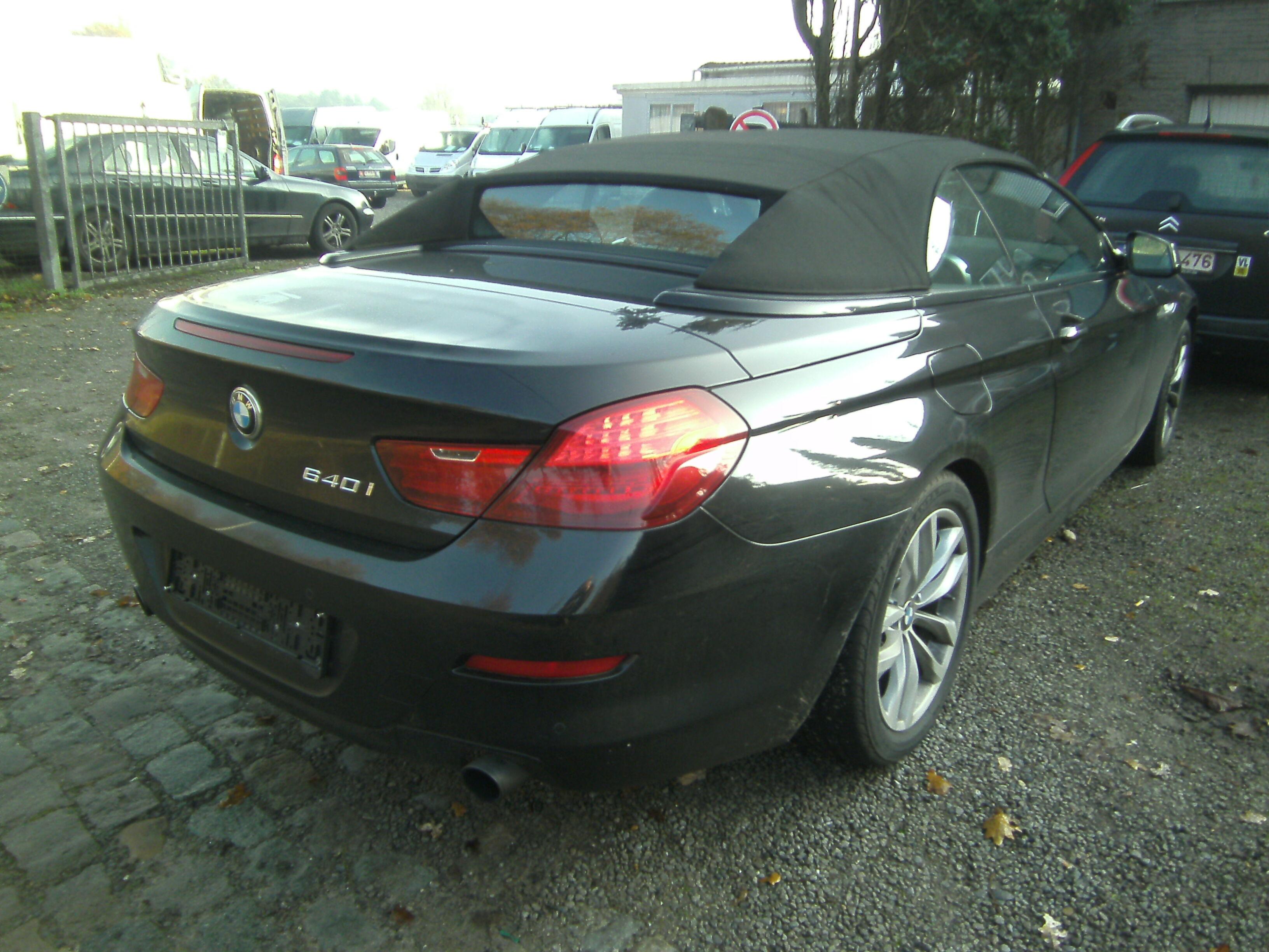 BMW 640 Convertible cabrio 3.0 benzine ,400 eur biv!!,105 dkm !!F.O.,29000 geen btw 4/5