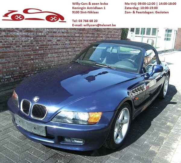 BMW Z3 1.8i/116pk/blauw/semi-leder/cabriokap(nieuw)/elekzetels/hard-top/winterprijs
